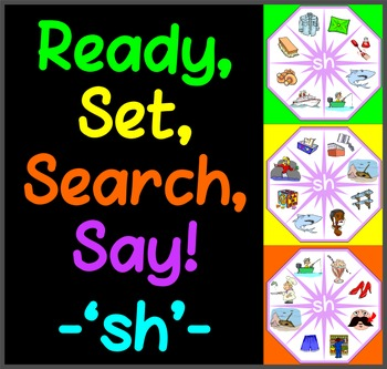 Ready, Set, Search, Say! – 'sh' –  articulation / speech therapy game
