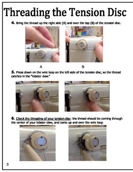 """""""Ready, Set, Sew!"""" Visual Guide to Threading the Sewing Machine [Singer 717/719]"""