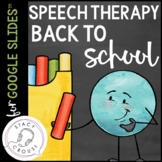 Back To School Speech Therapy Activity PDF and Google Driv