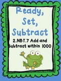 Ready, Set, Subtract - Math Center Game - 2.NBT.7 - Subtracting 3-Digit Numbers