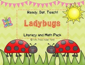 Ready, Set, Teach! Ladybugs Math and Literacy Pack