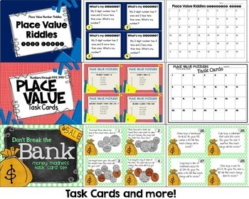 Place Value and Money Bundle - Activities, Games, Assessments, and More!