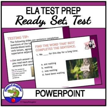 TEST PREP - Language Arts Test Practice Interactive PowerPoint