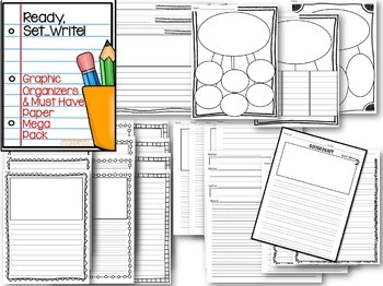 Graphic Organizers and Paper MEGA Pack