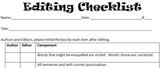 Ready, Set...Edit!  (Peer Editing Checklist)
