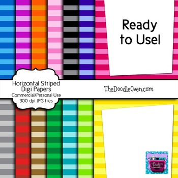 Tone-On-Tone Stripes - Ready to Use Digi Papers