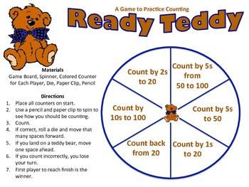 Ready Teddy - A Game to Practice Counting by 1s, 2s, 5s, and 10s