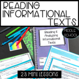 Whole Year Mini Lessons for Reading Informational Texts in Middle School