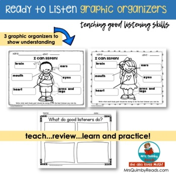 Ready To Listen | Anchor Chart |  Primary Learners