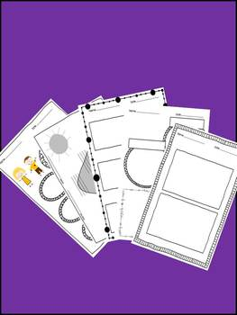 Ready To Make CUTE Graphic Organizers and Worksheets! Commercial Use!