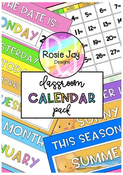 Ready To Print Class Calendar Pack