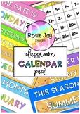 Ready To Print Class Calendar Pack