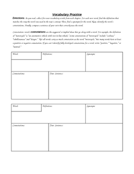 Ready-To-Use Handouts & Activities for any Book (Word Version)