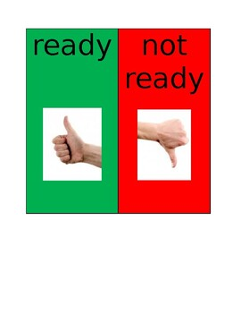 Ready Vs Not Ready Thumbs Up Thumbs Down Visual Support Special Education