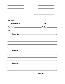 Ready Writing Shark Diary Scaffold