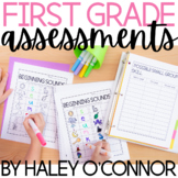 First Grade Assessments {Math, Reading, and Phonics}