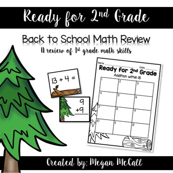 Ready for 2nd Grade-Math Review Task Cards