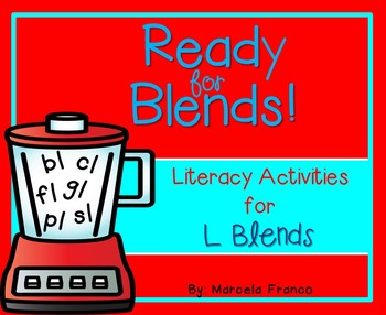 L Blends Literacy Activities