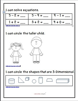Common Core Aligned! Ready for First Grade - Math