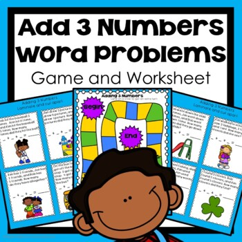 Addition Word Problems, 3 Whole Numbers