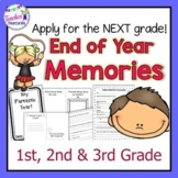 End of Year Memory Book for 2nd grade & 3rd grade End of the Year Activities