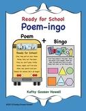 Ready for School - Poem-ingo - Bingo With a Twist of Words & Shapes