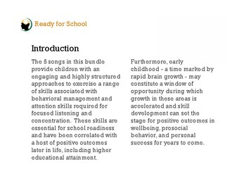 Ready for School w/ Mindfulness Music Bundle   Classroom / Behavior Management
