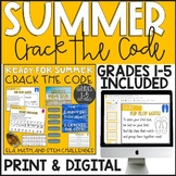 Ready for Summer CRACK THE CODE (Grades 1-5)