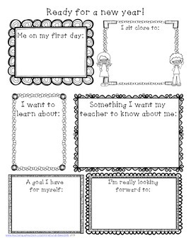 Ready for a New School Year Worksheet