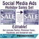 Ready in One-Minute Social Media Sales Ads, Holiday Set 2