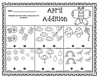 Ready in a Jiffy! (APRIL Math & Literacy Printables for Kindergarten)