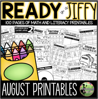Ready in a Jiffy! (AUGUST/SEPTEMBER Math & Literacy Printa
