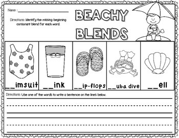 Ready in a Jiffy! (Beachy Blends & Digraphs FREEBIE)