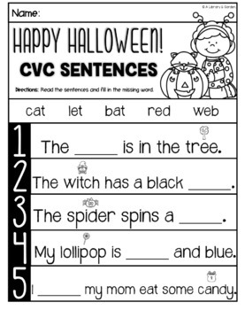 Ready in a Jiffy! (OCTOBER Math & Literacy Printables for Kindergarten)