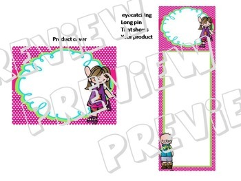 Ready made product cover and matching long pin