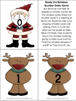 Ready the Reindeer Number Order Game