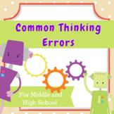 Ready-to-Cut Handouts - Common Thinking Errors