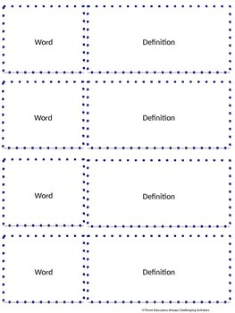 Ready-to-Edit Vocabulary Boxes