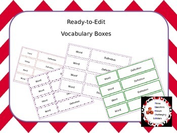 Ready-to-Edit Vocabulary Boxes2