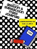 Ready to Go Addition and Subtraction Math Journals: K.OA. 1, 2, and 5