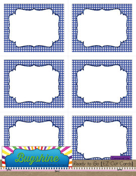 Ready to Go {EZ Cut Cards} for Commercial Use: The Blues