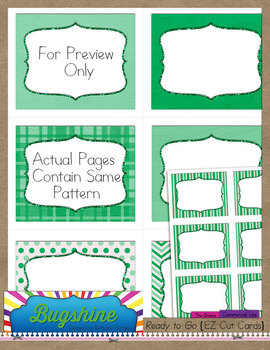 Ready to Go {EZ Cut Cards} for Commercial Use: The Greens