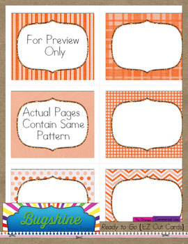 Ready to Go {EZ Cut Cards} for Commercial Use: The Oranges