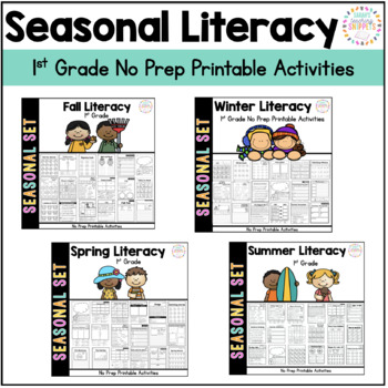 Ready to Go Printable Literacy Pack for ALL Seasons BUNDLE