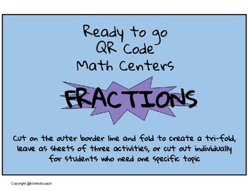 Ready to Go QR Math Centers: Fractions
