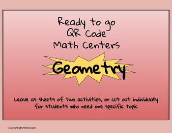 Ready to Go QR Math Centers: Geometry