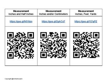 Ready to Go QR Math Centers: Measurement