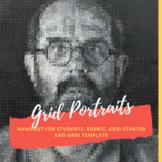 Ready to Go Self Portrait Grid Lesson! Handout, Rubric, an