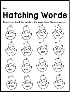 Spring Literacy Printable Pack