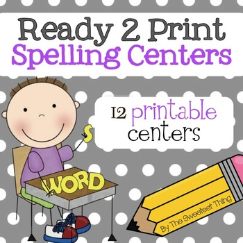 [Spelling & Working with Words Center] Activities